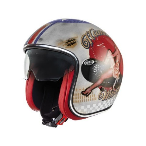 CASCO JET PREMIER VINTAGE PIN UP OLD STYLE SILVER